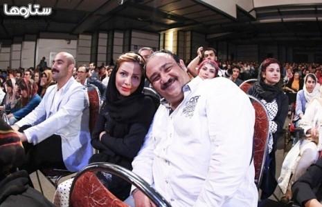 مهران غفوریان و همسرش/عکس