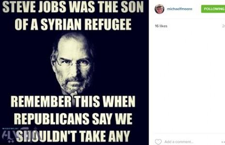 مایکل مور: استیو جابز هم پسر یکی از همین مهاجران سوری بود