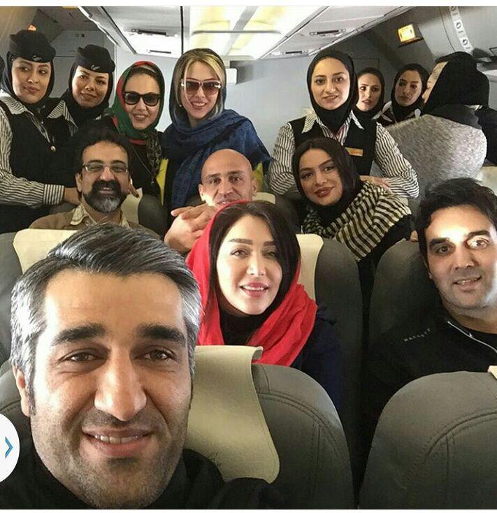 هنرمندان در پرواز تهران مشهد/عکس