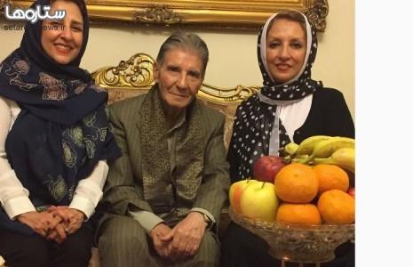 خواهران گلچین در کنار عموی خواننده شان /عکس