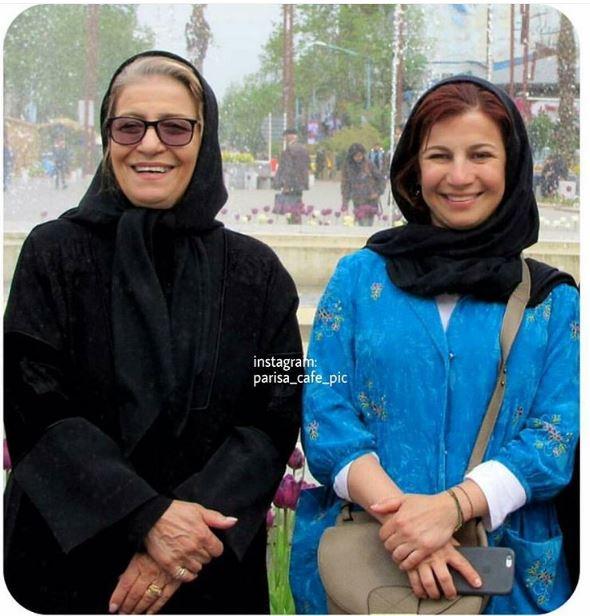 لیلی رشیدی و مادرش/عکس
