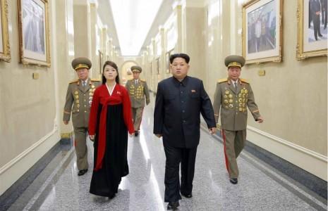 رهبر کره شمالی و همسرش