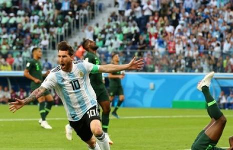 دیدار تیمهای آرژانتین و نیجریه
